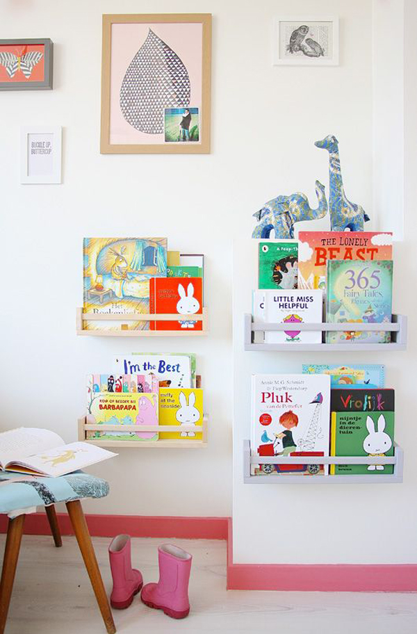 Muebles infantiles originales 22 fotos ideas e - Estanteria pared infantil ...